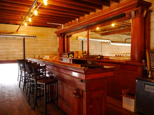 The bar back for 5th and Wine's new mezzanine wine