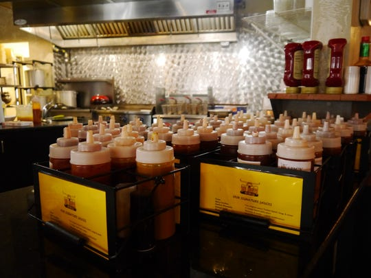 All of Big Mouth BBQ's sauces are made from scratch and served on the side so customers can choose their own flavor.