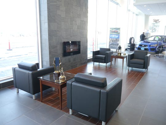 Lithia Subaru's new downtown showroom includes seating