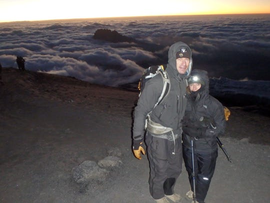 Todd and Heather Pendleton climbed Mount Kilimanjaro in Tanzania, Africa in 2014.