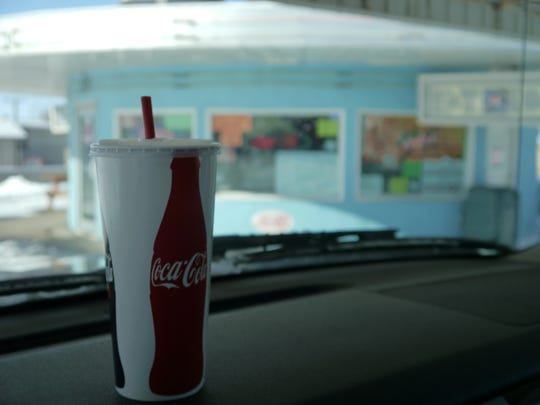 No matter the weather, Ford's Drive-In milkshakes are served by a car hop, just like back in the day.