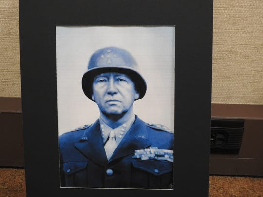 A picture of Gen. George S. Patton by Ridgewood junior