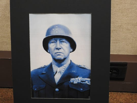A picture of Gen. George S. Patton by Ridgewood junior Hallie Reed part of the Teen-Age Talent exhibit at the Johnson-Humrickhouse Museum.