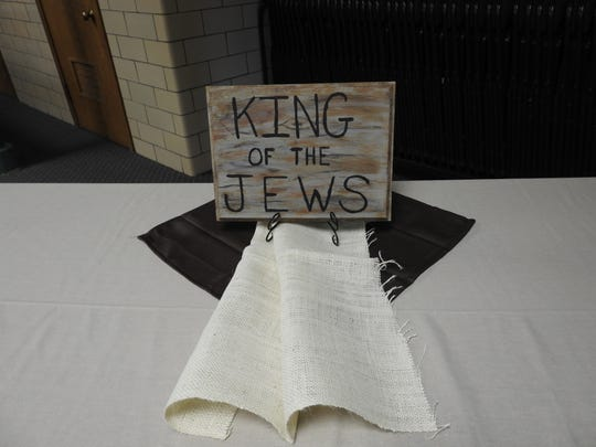 "Such a sign reading ""King of the Jews"" was placed at"