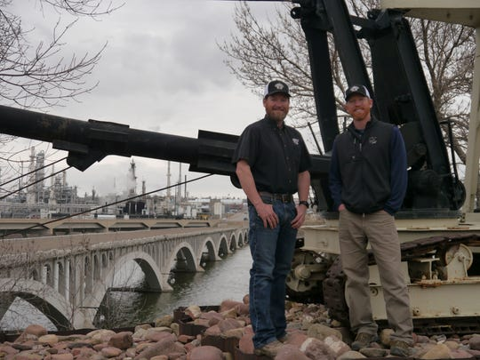 From left, brothers Jason and Harley Huestis own Falls Construction, which goes out of business this summer after 71 years in Great Falls.