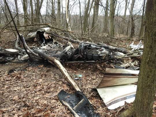 Wreckage from a 2018 plane crash that killed a couple from Grafton. A new report attributes the crash to loss of lift and icing being an issue per the pilot during communication with air traffic control.