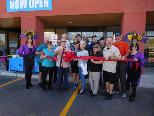 Members of the Mesquite community come out to support the grand opening and ribbon cutting ceremony of the new UPS store at 550 W. Pioneer Blvd. in Mesquite