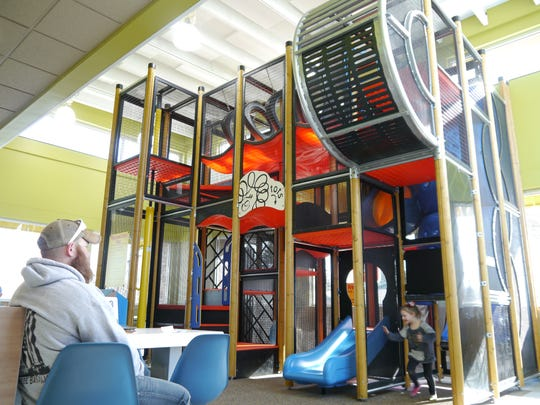 The Playplace in McDonald's was part of a floor-to-ceiling