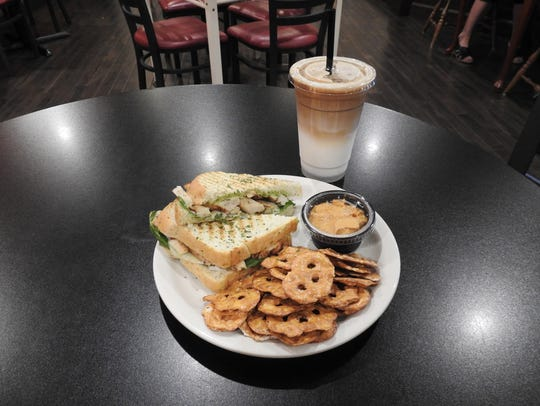 The chicken pesto panini is one of the most popular