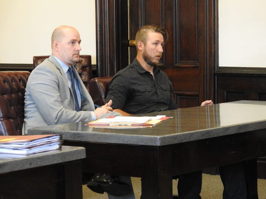 Attorney Kevin Cox and his client Michael McVay II appeared Thursday in Coshocton County Common Pleas Court. McVay received 72 months total for two counts of unlawful sexual conduct with a minor.