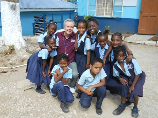 Kevin Carges made it his mission to help build or fix schools in Jamaica.