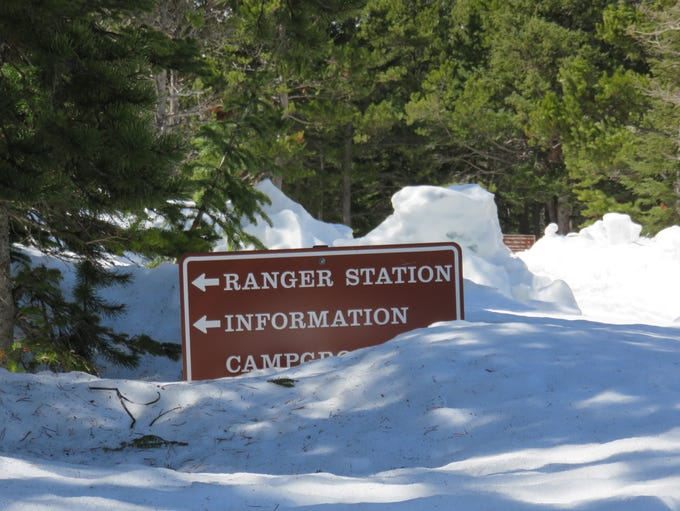 Spring snow buries most of Glacier National Park