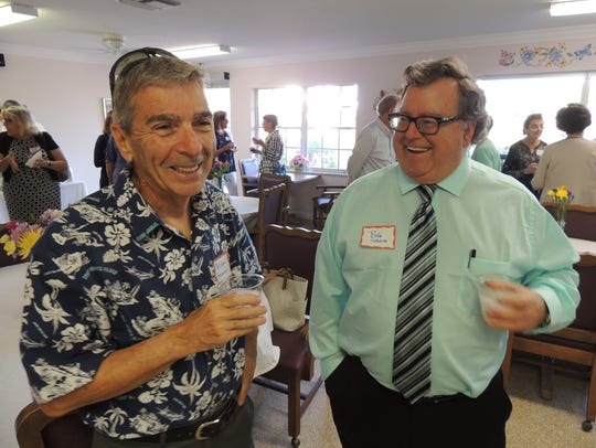 Michael Amarosa, left, and Bob Schlitt at St. Francis