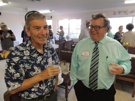 Michael Amarosa, left, and Bob Schlitt at St. Francis