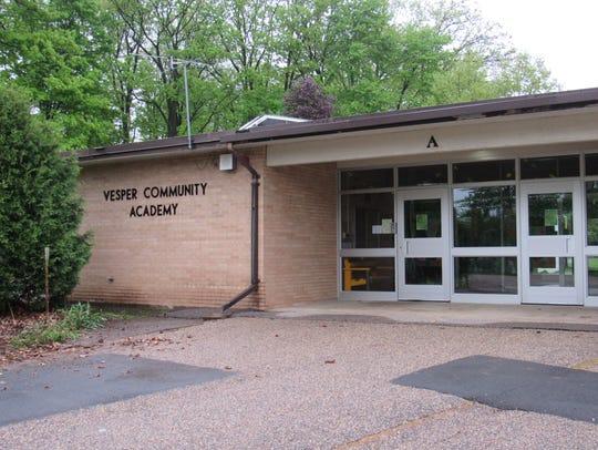 Entrance of Vesper Community Academy taken on May 21,