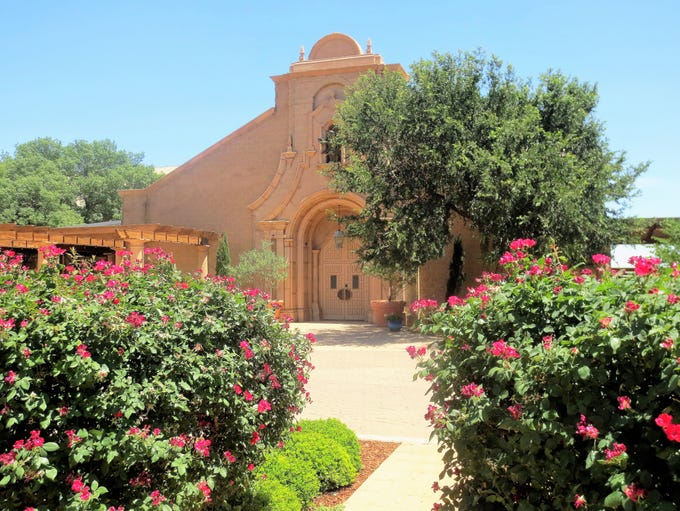 The picturesque grounds of the Caprock Winery in Lubbock.