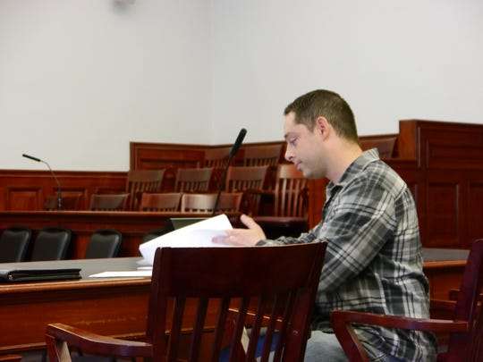 Great Falls resident Ryan Villines testifies in Great Falls District Court that Cascade County Commissioners denied citizens the right to participate in local government.