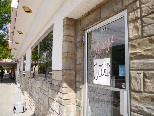 """Tracy's Restaurant at 127 Central Ave. has a """"Closed"""""""
