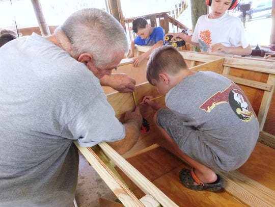 Campers employ the old adage measure twice and cut