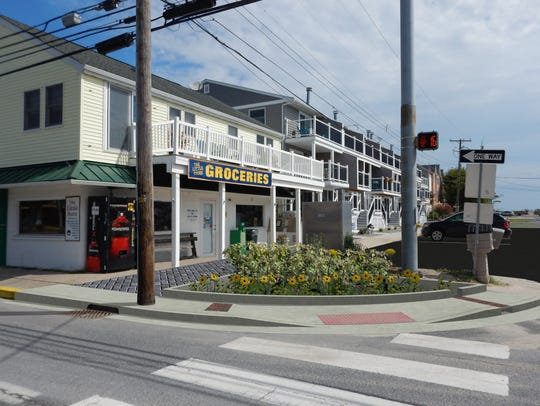 A rendering of a sidewalk project in Dewey Beach that