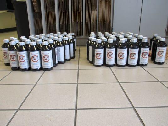 Codeine pints seized