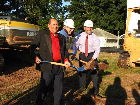 Church holds groundbreaking ceremony PHOTO CAPTION