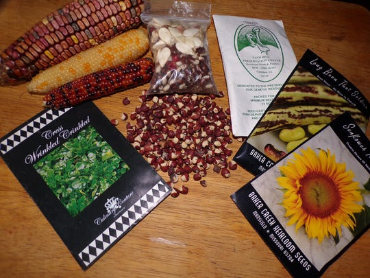 A variety of locally produced seeds are available at