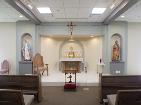 The new adoration chapel at Saint Mary Magdalene Catholic Church is a peaceful place to worship and can seat 90 people.