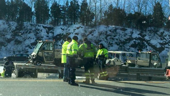 Route 80 in Montville was delayed in both directions due to an accident Tuesday morning.