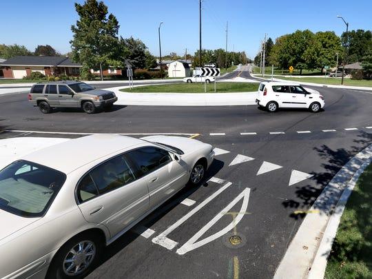 Roundabouts are plentiful in Carmel.