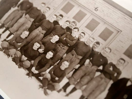 John Des Jardins, back row sixth from right, in the