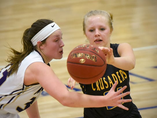 Cathedral's Abbey Medelberg makes a pass around Melrose's