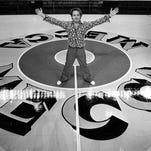 Photos: Robert Indiana and the MECCA's pop-art basketball floor
