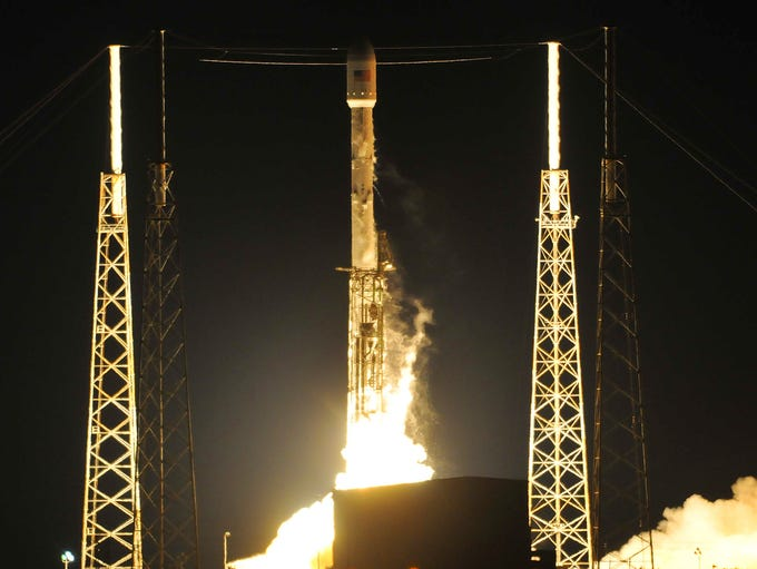 SpaceX's Falcon 9 rocket lifts off from Cape Canaveral