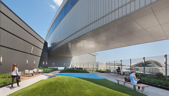 A rendering provided by Gensler shows JetBlue's new