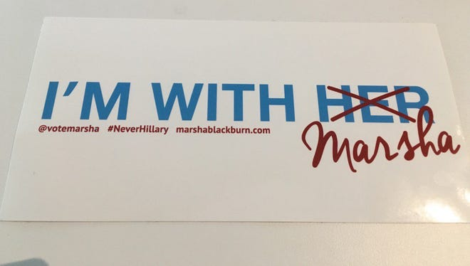 Thursday night when Marsha Blackburn speaks at the convention, the Tennessee delegation will be waving these signs