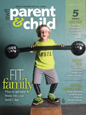 Grayson Tietz, 6, of Fort Myers modeled for the January cover of SWFL Parent & Child. A special thank you to CrossFit Salvation in Cape Coral for allowing us to photograph Grayson in the gym.