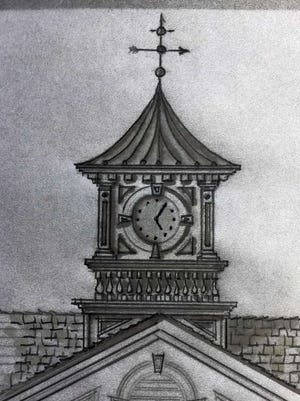 A sketch of what the cupola at Wandell School in Saddle River is going to look like.
