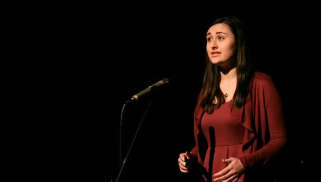 Senior Kathleen Becker took first place in Delaware's Poetry Out Loud Competition and will advance to the national competition in Washington in the spring.