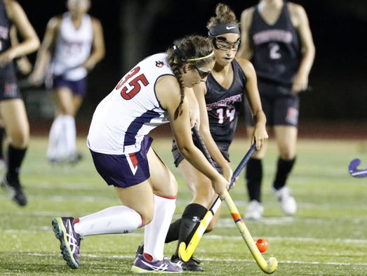 Conestoga Valley's Claire Ortiz stops the ball against