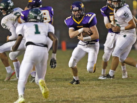 Lancaster Catholic's Christian Sweigert gets by Trinity's