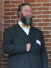Tim Elmerick, of Bedford, won the Hayes lookalike category in the beard contest.