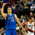 Nowitzki is continuing to dominate in his 18th NBA