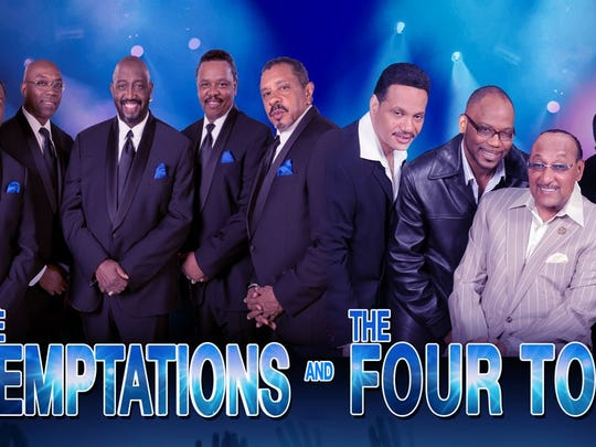 Tickets go on sale Friday for an April 22 concert in Toledo featuring The Temptations and The Four Tops.