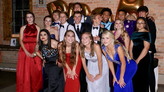 The 2018 Prom Court is, from left (back row) James Young, Wyatt Lehman, Ty Davidson, Zac Fisher, Clay Blankenship (middle row) Lindsay Banks, Anna Evans, Sean Douglas, Devin Gildner, Ethan Kadau, Ashley Hollowell, Haven Lytle(front row) Armi Mason, Elly Daval, Chloe Stiles and Jaiden Tweed.