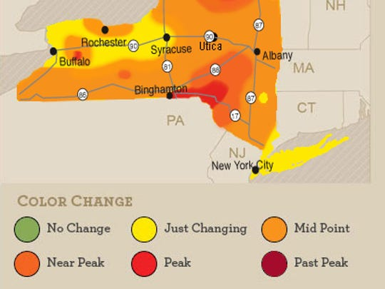 The foliage report is a combination of reported sightings across the state. This is the latest report as of Oct. 7. The report is released every Wednesday.