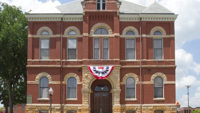 Downtown Howell's historical Livingston County Courthouse.