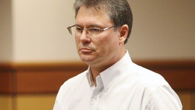 Former teacher Stacey Dean Rambold learns his sentence in court in 2013. The judge was censured over comments that placed some responsibility on the victim.