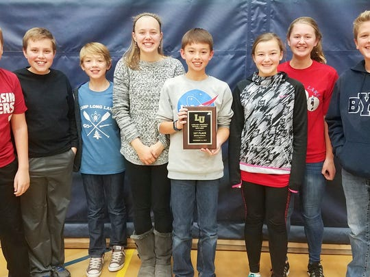 Horace Mann's Team No. 2 won the 27th annual Michael J. Devaney Middle School Math Meet, contested recently at Lakeland University.