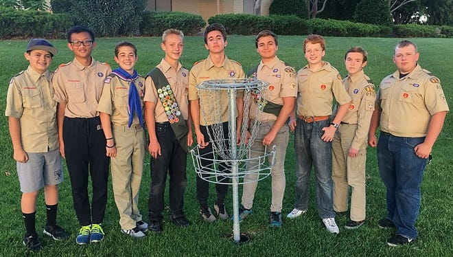 Nine boy scouts came together to build a new 18-hole disc golf course at the Bloomington Hills North Park. It's the third course to be built in St. George.